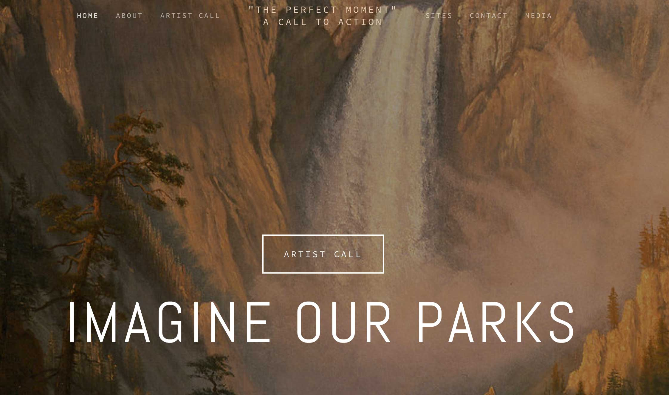 showing Imagine our Parks website, a collaborative project between Krista Cabellero and Trudi Lynn Smith