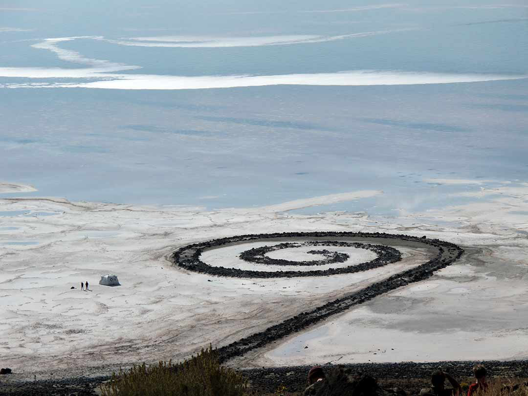 Installation of Portable Camera Obscura at Spiral Jetty