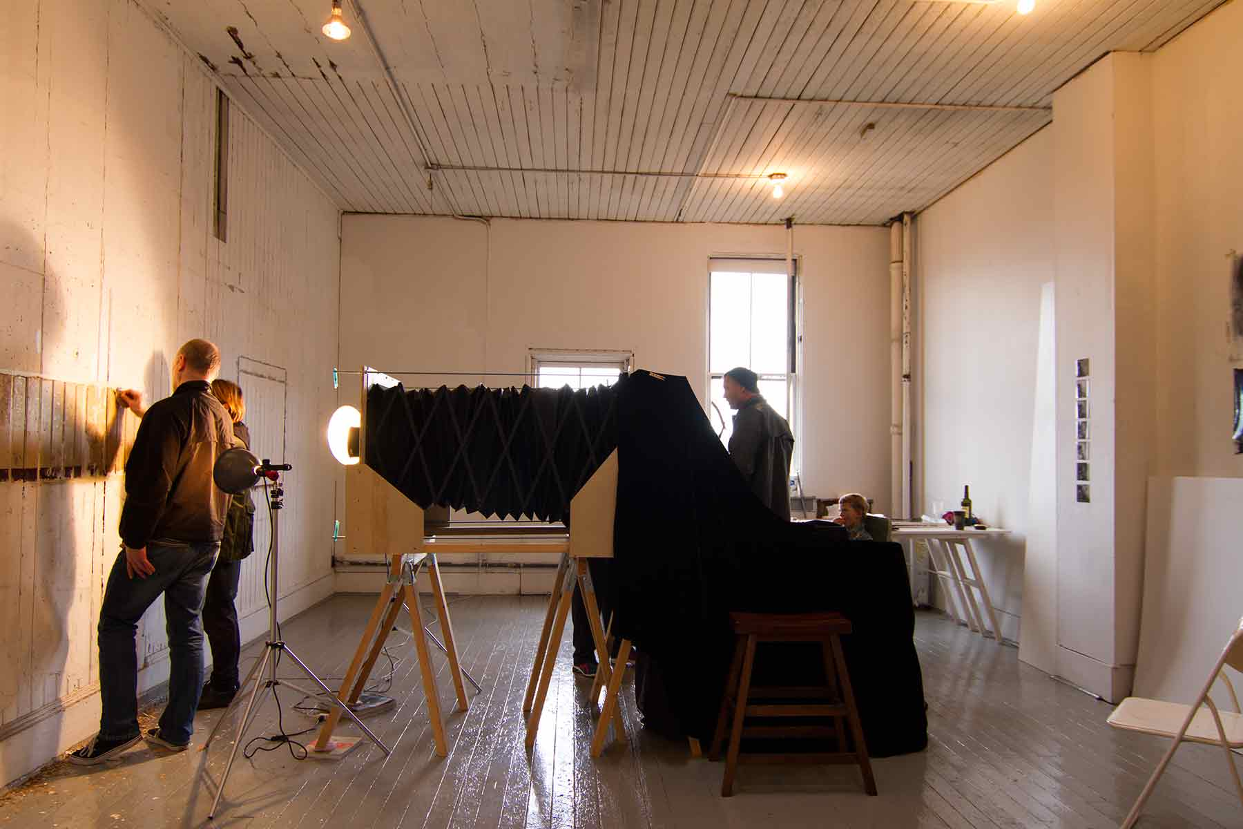 photo showing Studio event and wall peeling