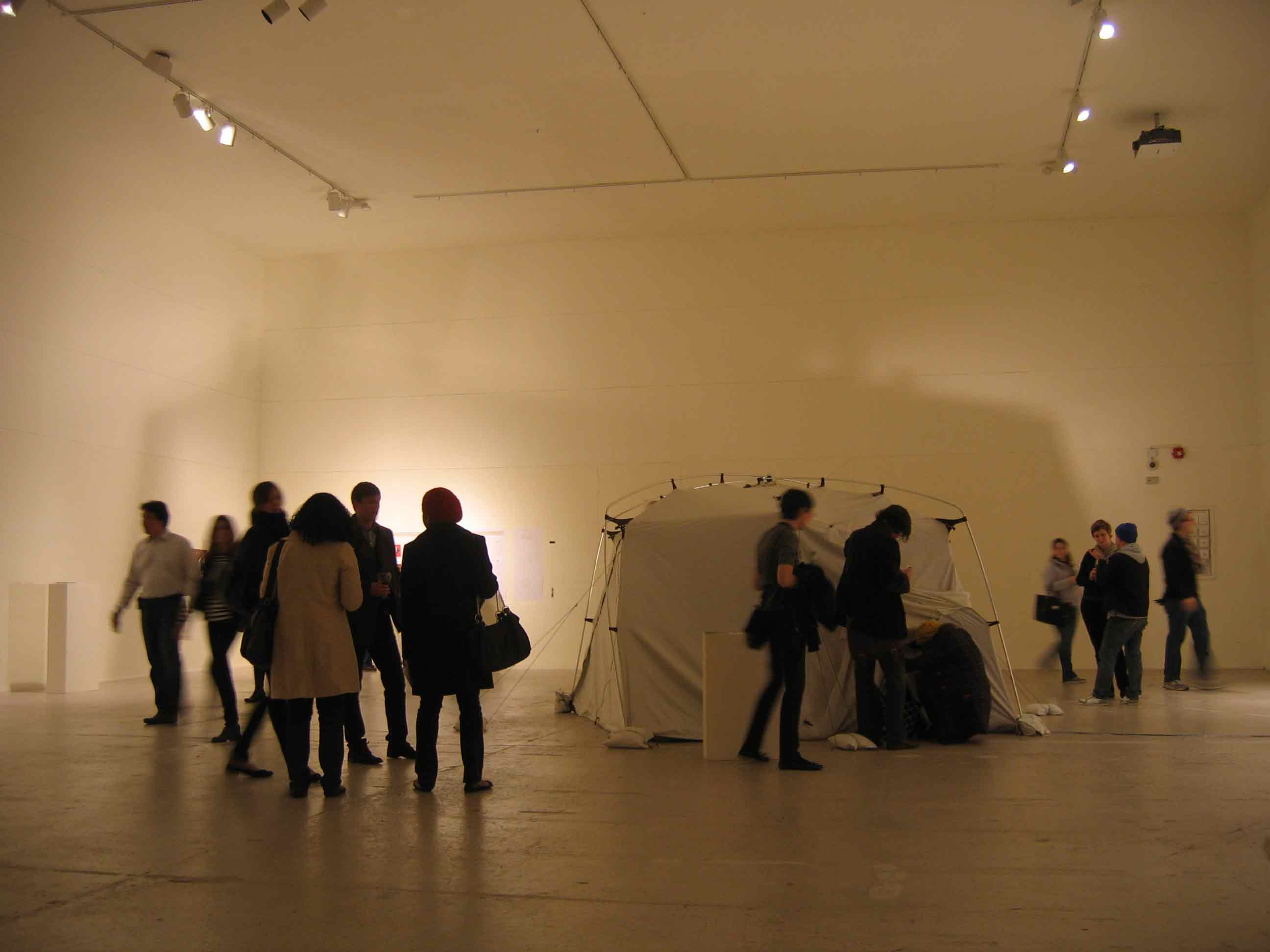 Photograph showing Portable Camera Obscura at Crane Arts in Philadelphia, 2009