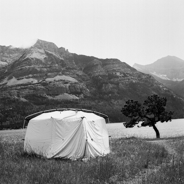 image showing portable camera obscura in Waterton Lakes National Park