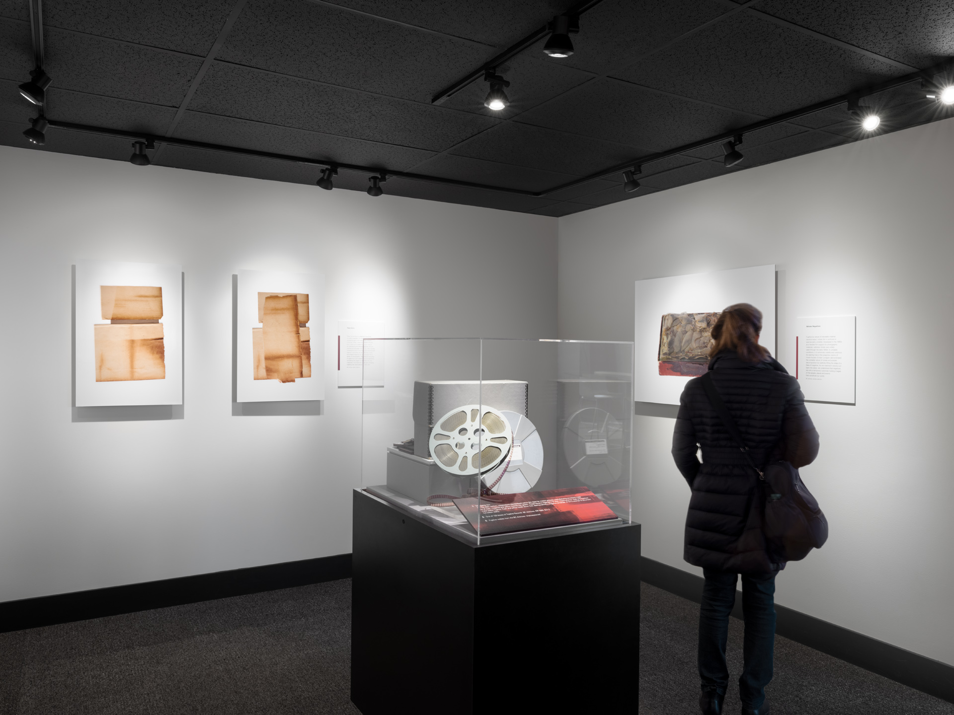 Fugitives in the Archive exhibition by Trudi Lynn Smith and Kate Hennessy. Photograph by Rachel Topham